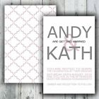 Luxury Personalised Simply Text Wedding Invitation Day or Evening