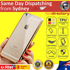 Phone Case for iPhone 7 6S 6 Plus SE 5 TPU Electroplating Clear Soft Gel Cover