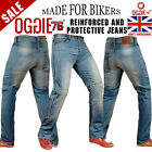 MENS MOTORBIKE MOTORCYCLE DENIM REINFORCED JEANS WITH PROTECTIVE LINING TROUSER9
