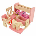 Wooden Furniture Dolls House Family Miniature 6 Room Set Dolls For Kids Children <br/> Best Christmas Gifts For Kids&radic;6 Room&radic;4Pcs/6Pcs Set Doll