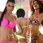 Bikini swimsuit woman swimwear COLOURS FLUO two pieces PUSH UP laces B2930