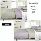 2 Designs in 1 - MODE Reversible Quilt Cover Set - SINGLE DOUBLE QUEEN KING