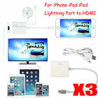 3PCS Lightning 8 Pin to HDMI Cable HDTV TV Digital AV Adapter for iPhone 6/6S/7