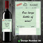 Personalised Prescription Wine Bottle Label, Funny, Spoof, Perfect Xmas Gift