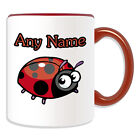 Personalised Gift Crawling Ladybird Mug Money Box Cup Animal Insect Design Cute