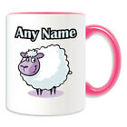 Personalised Gift Lamb Mug Money Box Cup Animal Design Cute Sheep Name Goat Tea