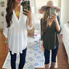 Women\'s Lady Loose Long Sleeve Casual Blouse Shirt Tops New Fashion Blouse