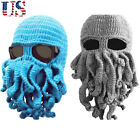 US Tentacle Octopus Cthulhu Knitted Beanie Hat Windproof Cap Ski Face Head Mask