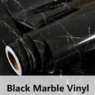 Black Marble Gloss Film Vinyl Self Adhesive Countertop Peel 2 Sizes