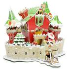 3D Puzzle DIY Christmas House Model Gift For Child Famliy Time With Light