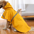 Dog Rain Coat Pet Jacket Puppy Outdoor Clothes Waterproof Coat Hooded Raincoat