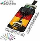 BMW E30 M3 German Stance Classic Low - Universal Leather Pouch Phone Case Cover