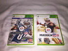 X-Box 360 Lot of 2 games NFL Madden 11 & 13 VG