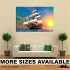 Wall Art Canvas Picture Print - Sail Boat Computer Generated M002 3.2