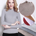 Womens Ladies Faux Cashmere Pullover Stretchy Knitted Sweaters Cardigans Jumpers