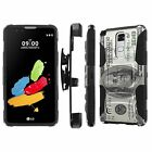LG [G Stylo2 Stylo 2] Armor Case [Kickstand] [Holster] [Screen Protector] - I