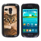 Hard Phone Case Cover Skin For Samsung gray spotted cat on carpet