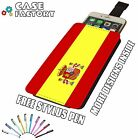 Spain Spanish Country Flag National - Universal Leather Pouch Phone Case Cover
