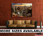 Wall Art Canvas Picture Print - New York City Rooftops Aerial View 3.2