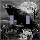 Crow On A Skull Light Switch Plate Cover Wall Decor