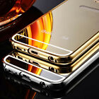 Luxury Aluminum Ultra-thin Mirror Metal Case Cover for iPhone 5 5S SE 6 6S Plus