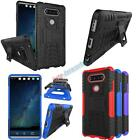 Shockproof Rugged Armor Hybrid Rubber Hard Stand Case Cover for LG V20