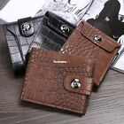 Mens Luxury Soft Quality Leather Wallet Credit Card Holder Purse Brown ES9P