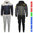 Mens DL Funk Original Hooded Contrast Pocket Jogging  Zip Up Fleece Tracksut New