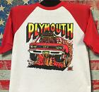 Vintage '69 Rats Hole Original Plymouth GTX transfer on baseball 3/4 sleeve RARE