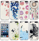 For iPod Touch 5th / 6th Gen - Hard TPU Rubber Transparent Clear Skin Case Cover