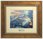Thomas Kinkade Tinker Bell and Peter Pan Fly to Neverland Prestige Home