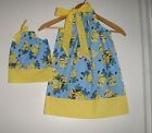 Minions dress matching American girl doll dress pillowcase dress doll  and me