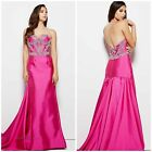 MAC DUGGAL 62256M STRAPLESS MARMAID GOWN WITH EMBLISHED CRYSTAL TOP PAGENT $899