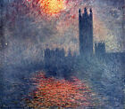 Houses of Parliament with Sun (classic Monet art print)