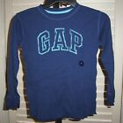 GAP KIDS Boys Shirt Size S 6 7 Ribbed Cotton Thermal Long Sleeve Logo Top NEW