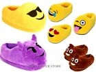 WOMENS MENS EMOJI NOVELTY SLIPPERS BOYS GIRLS SLIP ON POO LOVE WINK SLIPPER