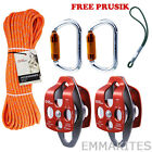 Double Sheaves Mobile pulley system for block and tackle with 30 50 100ft Rope