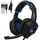Sades Gaming Headset Stereo Headphone 3.5mm Wired W/Mic For PS4 Xbox PC Xboxone