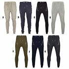 Men's Drop Crotch Slim Fit Knee Zip Joggers Jogging Tracksuit Bottoms Trousers