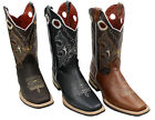 Men Genuine Top Quality Cowhide Leather Cowboy Rodeo Western Boots Style DB-741