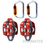 Heavy Duty 32kN Mobile Pulley with Carabiner Block and Tackle System Lifting Set