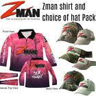 Zman PINK Set Z man Tournament Fishing Shirt + Choice of Z-man hat / cap / visor