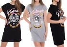 Womens Vintage Mini Dress West Coast Slogan Print Eagle T Shirt Party Top Ladies