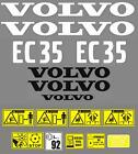 Decal Sticker Graphics set for VOLVO EC35 Mini Digger Bagger Pelle Autocollant
