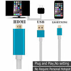 Lightning to HDMI 108P Adapter for TV HDTV for iPhone XS 8 Adapter Plug and Play