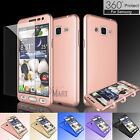 Hybrid 360° Body Protector Case Cover +Tempered Glass for Samsung Galaxy Sky J3