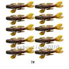 Outdoor 10Pcs Set 8.5cm/6.5g Soft Lures Jigs Rubber Fsihing Lures Soft Fish