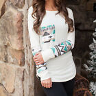 Womens Ladies Long Sleeve Crew Neck Tops Summer Casual Shirt Tops Blouse US