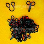 Hooks & Eyes Black Schwarz Various Sizes SEW ON Steel Metal Notions Snaps Button