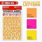 Inkviva Neon Iron On Letters Heat Transfer Alphabet Label Name Appliqué -12mm